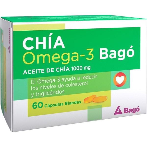 Suplemento Chía Omega 3 1000mg 60 Cápsulas