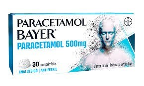 Paracetamol Bayer Analgesico Antifebril 500 mg