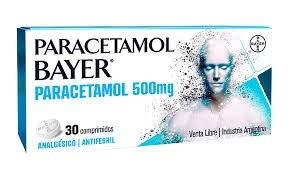 Paracetamol Bayer Analgesico Antifebril 500 mg x 30 comprimidos