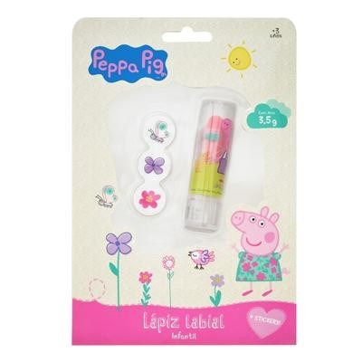 Labial Con Stickers Peppa Pig