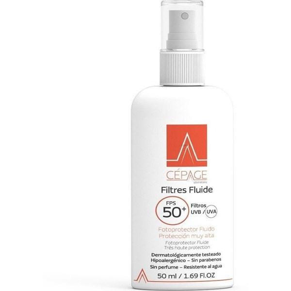 Filtres fluide 50+ x50 ml fluido