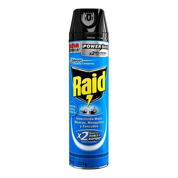 Raid Insecticida Mata Moscas, Mosquitos Y Zancudos Aerosol 360cm3