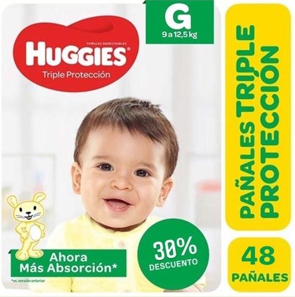 Huggies Classic Triple Protección Talle Grande Pack x 48 Pañales