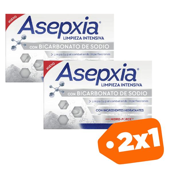 Promo 2x1 Asepxia Jabón Con Bicarbonato 100gr
