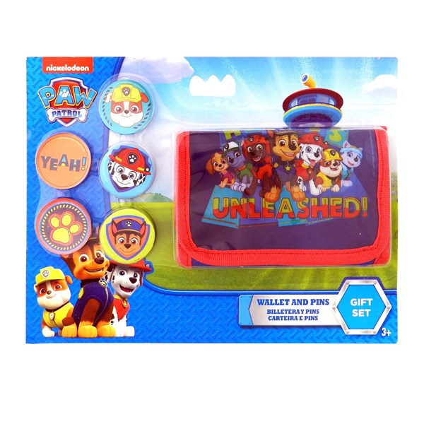 Set Paw Patrol Billetera + Pins