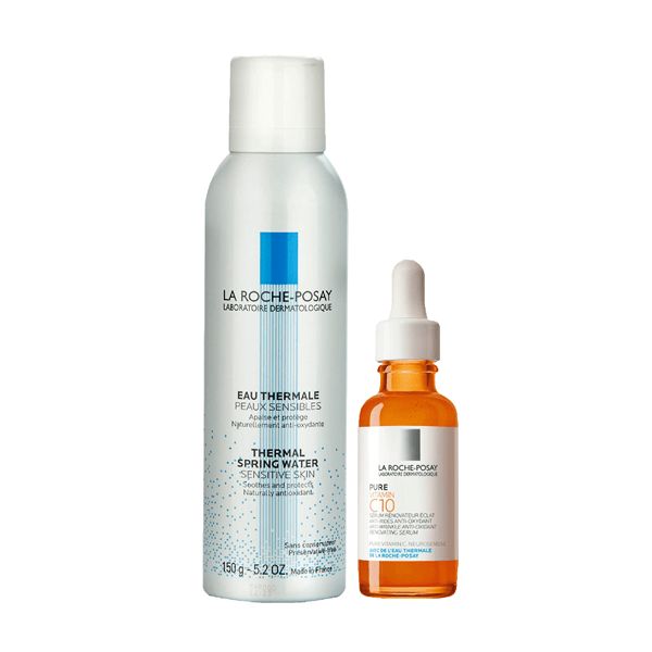 Kit La Roche Posay Serum Pure Vitamin C 10 30ml + Agua Termal Pieles Sensibles 150g
