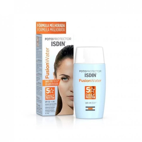 Pack ISDIN Fotoprotector Fusion Water + Hyaluronic Booster x5 Ampollas alt