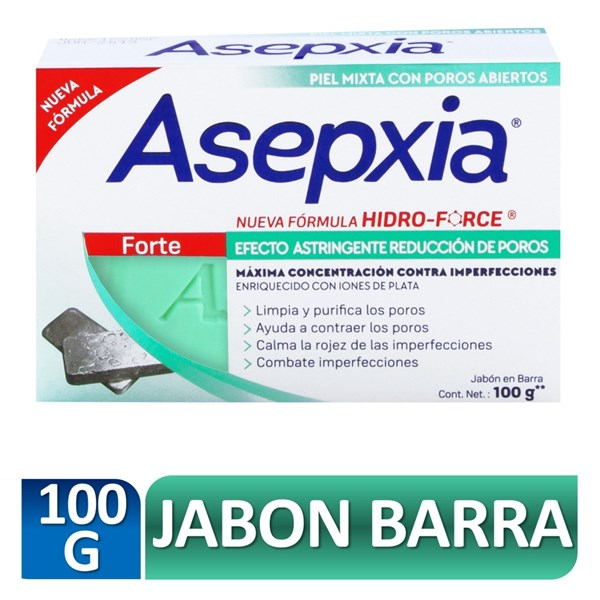 Asepxia Hidra Force Forte Jabón X 100 Gr
