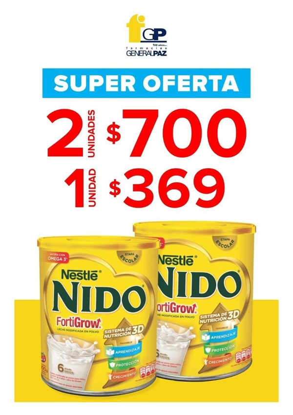 Promo Leche Nestle Nido Fortigrow 1 Lata X 800 Grs alt