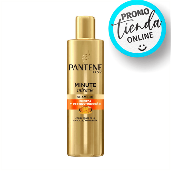 Pantene Shampoo 3 Minuto Miracle Fuerza Y Reconstrucción 270ml