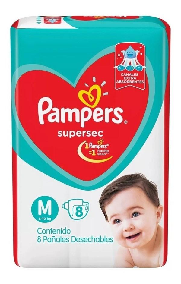 PL PAMPERS SUPERSEC  MED x 8 U