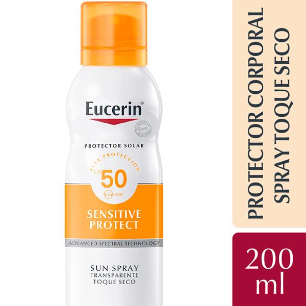 Eucerin Protector Solar Spray Toque Seco Fps 50 200ml