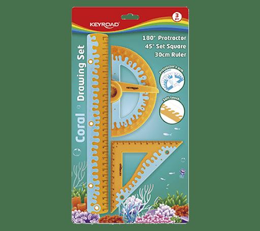 Kit de geometría 3 piezas Keyroad