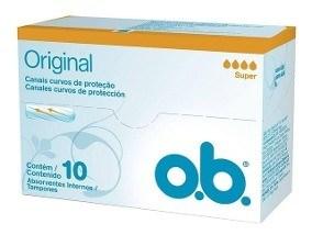 O.b. Tampones Canales Curvos De Proteccion Super 10u