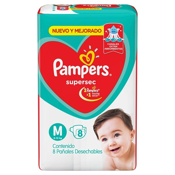 Pañales Pampers Supersec M X 8 Unidades alt