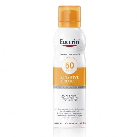 Protector Solar Eucerin Sun Corporal Toque Seco FPS 50+ Spray x 200 ml