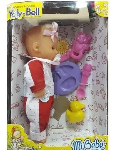 Muñeca Mi Bebé Yoly-Bell Con Accesorios alt