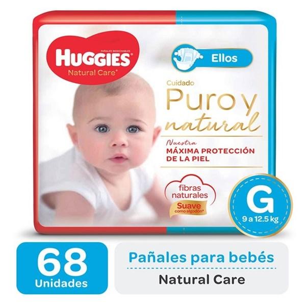 Huggies Pañal Natural Care Ellos G x 68