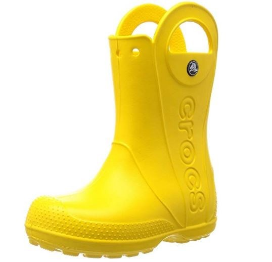 Crocs Handle It Rain Boot Kids- Amarillo 25-26