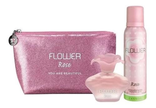 Perfume Flower Rose Necessaire (EDT 40ml + Deo 150ml)