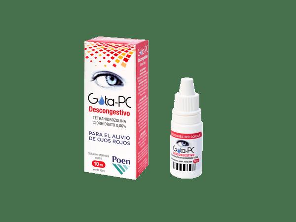 Gota PC Descongestivo Para el Alivio de Ojos Rojos Solucion 10 ml