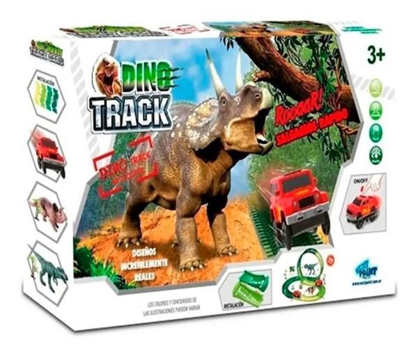 Pista Dino Track Con Autito y Accesorios  alt