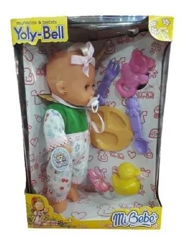 Muñeca Mi Bebé Yoly-Bell Con Accesorios