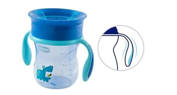Vaso Perfect Cup Chicco 12+ Meses Celeste