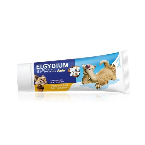 "ELGYDIUM JUNIOR ""ICE AGE"" pasta dental x 50 ml. Sabor TUTTI FRUTTI"