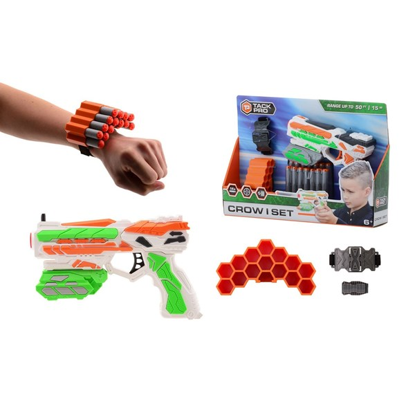 Set Pistola Lanza Dardos Tack Pro