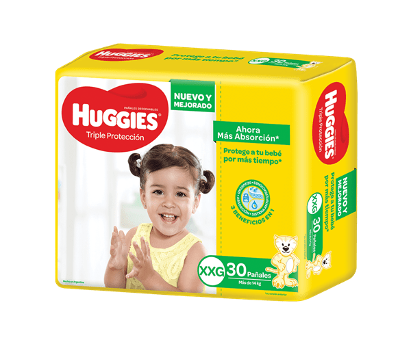 Pañales Huggies Classic Triple Proteccion Ultra  XXG  x 30 unidades