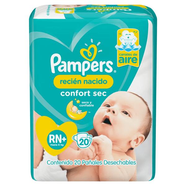 Pañal Pampers confort sec. Recien nacido