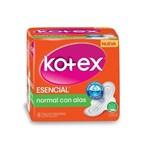 Kotex Toallitas Femeninas Esencial Normal C/Alas x8 un.  #1