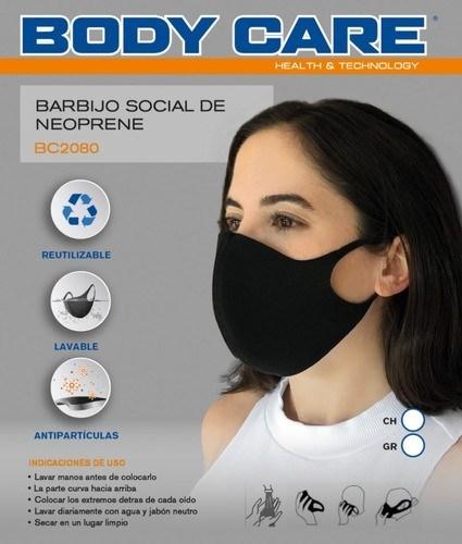 Tapaboca Social De Neoprene Body Care Mujer BC2080