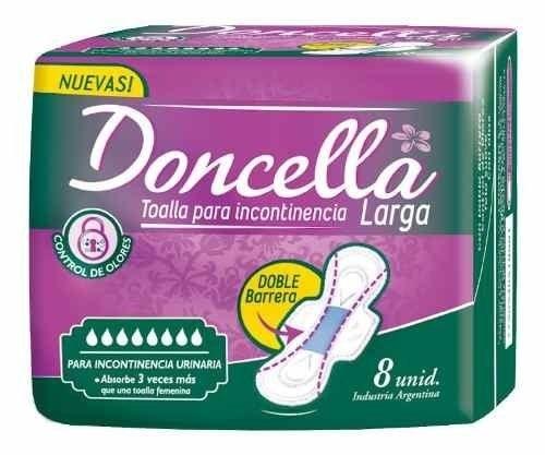Doncella, Toallas Femeninas para incontinencia Larga 8 un