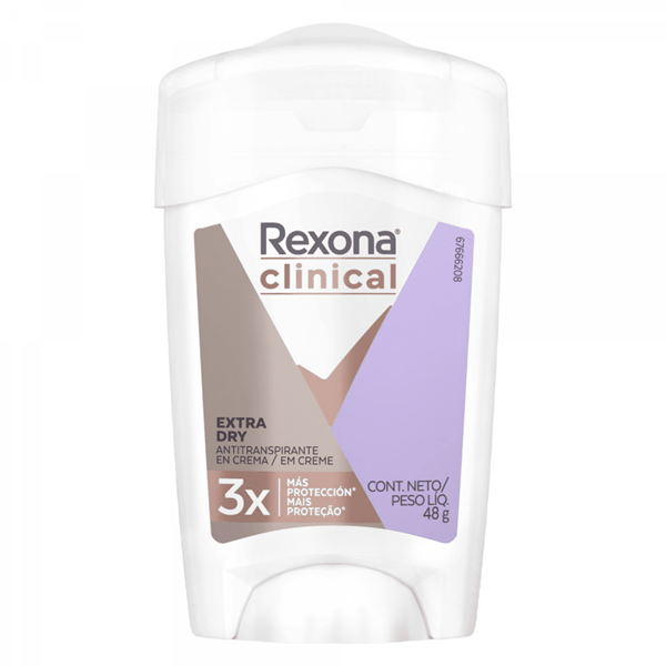 REXONA CLINICAL Desodorante WOMAN  Extra Dry Crema x 48 gr