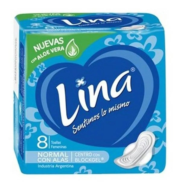 Lina Toallas Higiénicas Normal C/alas 8un