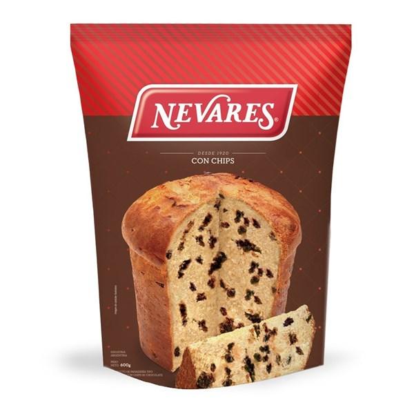 Pan Dulce Nevares con chips de chocolate x 600 GRS