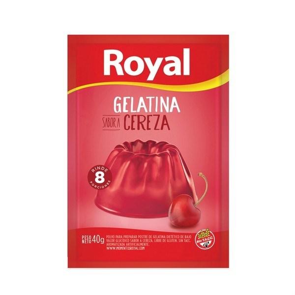 GELATINA ROYAL CEREZA POUCH x 40 GRS