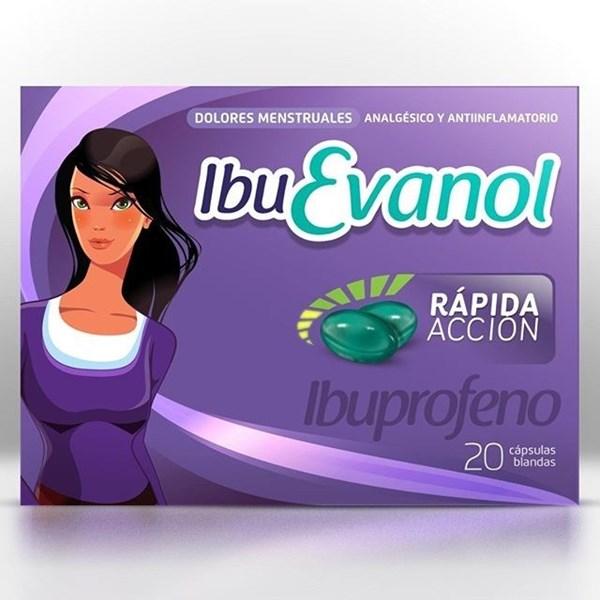 Ibuprofeno Ibuevanol Rapida Accion 200 mg x 20 caps