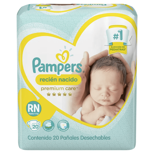 Pañal Pampers premium care, Recién nacido