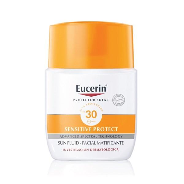 Eucerin Sun Fluído Matificante Facial – Piel Normal a Mixta FPS 30+ x50ml.