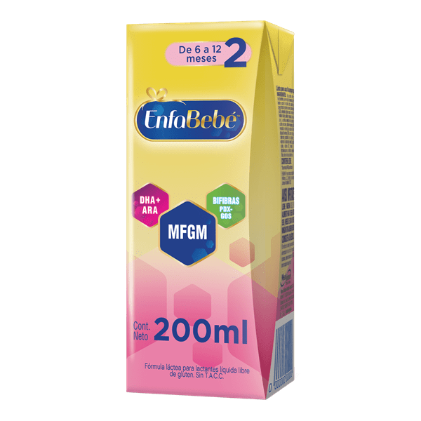 Leche Infantil Líquida Enfabebé Etapa 2 X 200 Ml