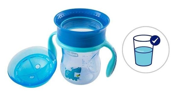 Vaso Perfect Cup Chicco 12+ Meses Celeste alt