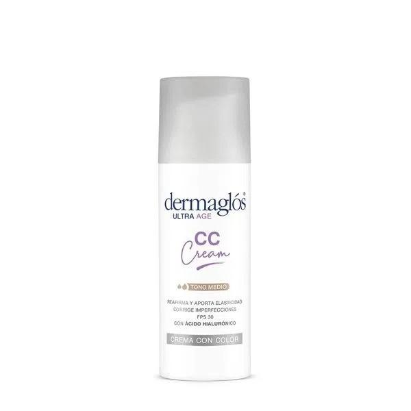 Dermaglós Crema Facial CC Cream Ultra Age Hidratante de Día Fps 50 x 50 g