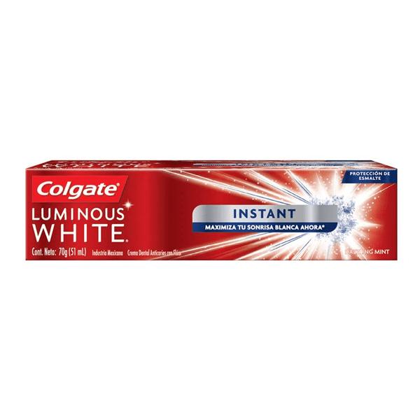 Colgate Pasta Dental Luminous White Instant 70gr