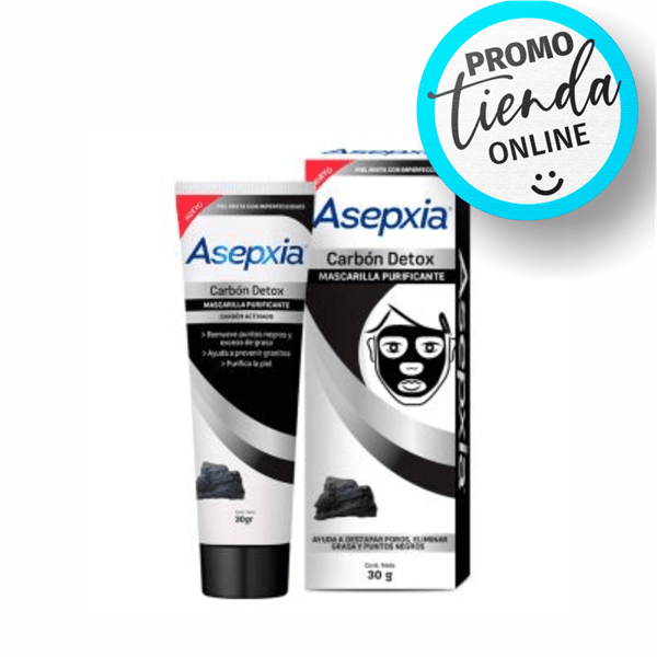 Asepxia Mascarilla Detox Carbon x30gr