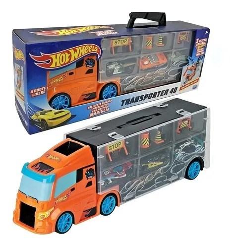 Hotwheels Camión + 3 Autos #1