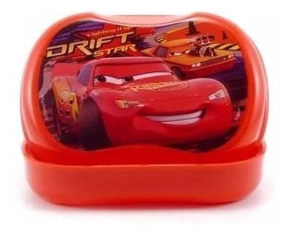 Jabonera Con Tapa Disney Cars