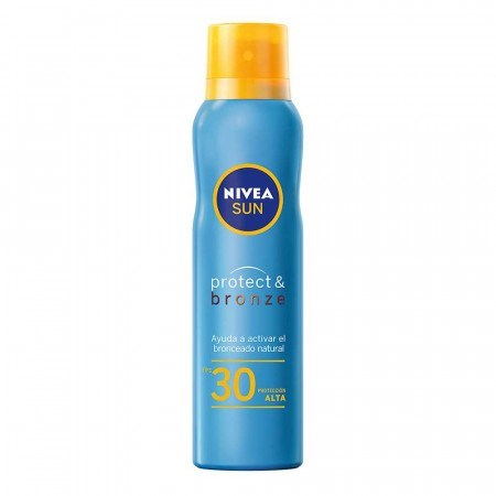 Nivea Protector solar x 200 ml Sun Protect Bronze Fps30 Spray Continuo
